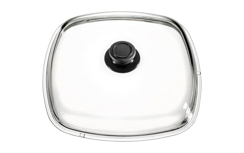 Praktischer, halbrunder Glasdeckel für Töpfe und Pfannen
