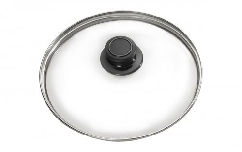 Praktischer, runder Glasdeckel für Töpfe und Pfannen